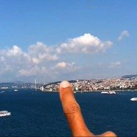 'Finger tracing the skyline of Asia, standing in Europe, Istanbul' , 2013